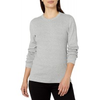 Three Dots Women's Long Sleeve Crew Neck Tee at  Women's Clothing store