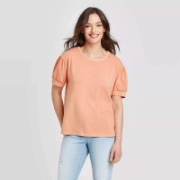 Universal Thread Women's T-Shirt Puff Sleeve Casual at  Women's Clothing store