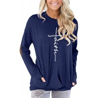 ZILIN Womens Faux Suede Elbow Patch T-Shirt Long Sleeve Letter Print Tunic Shirts Tops at  Women's Clothing store