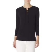 Anne Klein Women's Lace Up Tunic Top at  Women's Clothing store