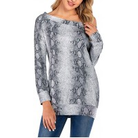 Famulily Sexy Off Shoulder Tops for Women Long Sleeve Shirt Print Pattern Pullover Blouse Tunic Tops T-Shirt for Ladies at  Women's Clothing store