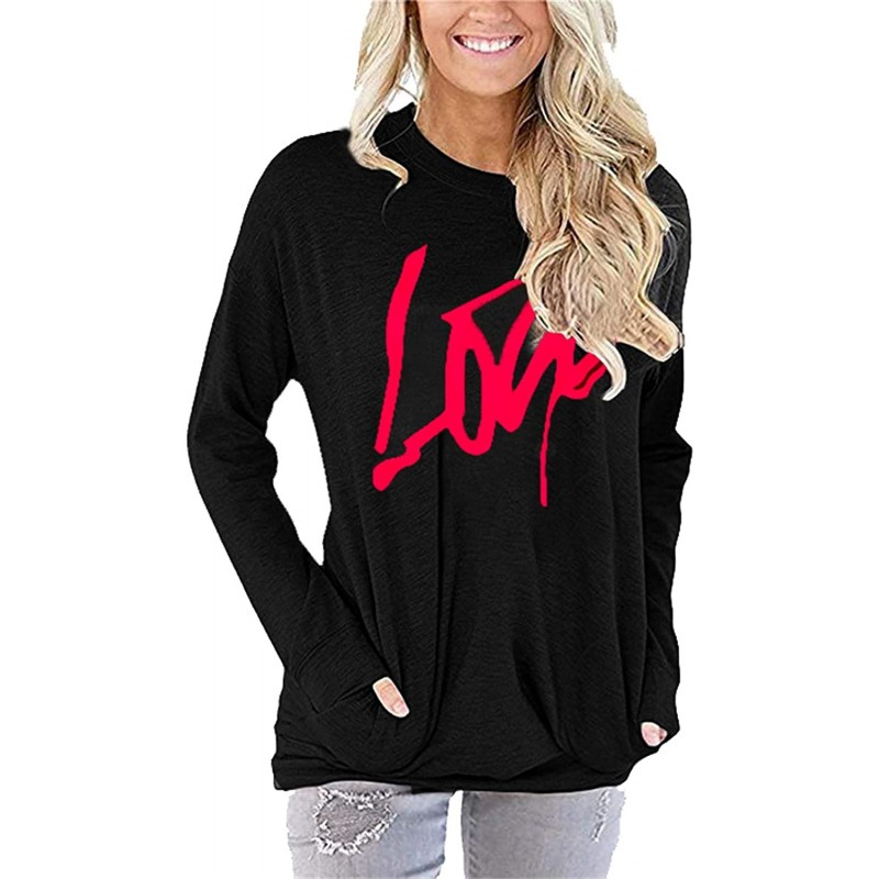 GEBERIC worldealshop Casual Loose Fit Pocket Shirt for Women Cute Tunic & Printed Tops Blouse Round Neck T Shirts