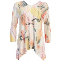 Jess & Jane Women's Camille Wavelet Tunic Top at  Women's Clothing store