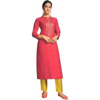 ladyline Rayon Silk Embroidery Sequins Kurtis for Women Indian Kurta Tunic Dress at  Women's Clothing store