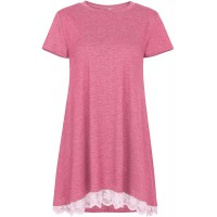 RieKet Women's Tunics Casual Blouses Tops Tees Short Sleeve T Shirts with Lace at  Women's Clothing store
