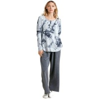 Umgee Women's Tie Dye Ribbed Button Front Top at  Women's Clothing store