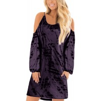 YOINS Mini Dresses for Women Summer Sexy Cold Shoulder Floral Print Tunics Casual Tops Blouse at  Women's Clothing store